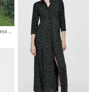 Large Zara leapord print maxi dress